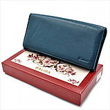 Женский кожаный кошелек Weatro 583-B149-2 Синий, фото 6