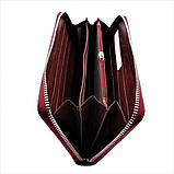 Женский кожаный кошелек Weatro 569-B78-1 Марсала, фото 4