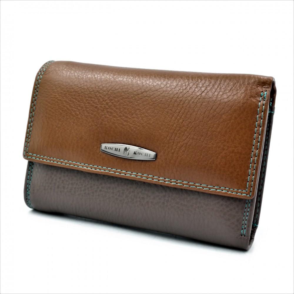 Жіночий шкіряний гаманець Weatro 09-KW77-3 Коричневий