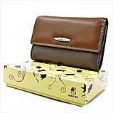 Жіночий шкіряний гаманець Weatro 09-KW77-3 Коричневий, фото 4