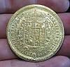 100 дукатов 1621 г. Польша Сигизмунд III в доспехах,  в золоте №527 копия