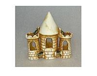 Декорація для акваріума керамічна Замок з трьома вежами, 12х6х12 см