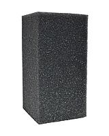 Фильтрующая губка мелкопористая без прорезей прямоугольная, 3,5х5х5 см