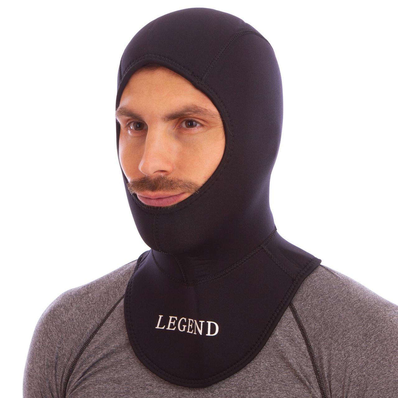 Шлем неопреновый для дайвинга 5 мм LEGEND PL-6303-5, M