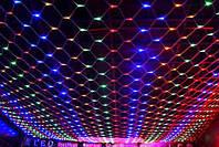 "Cветодиодная новогодняя гирлянда ""Сетка"" PICM 180 LED 1.75х1.5м мульти (2_006440)"