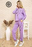 Спорт костюм женский 102R168 цвет Сиреневый 54-56, фото 2
