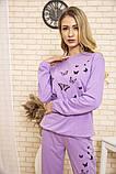 Спорт костюм женский 102R168 цвет Сиреневый 54-56, фото 4
