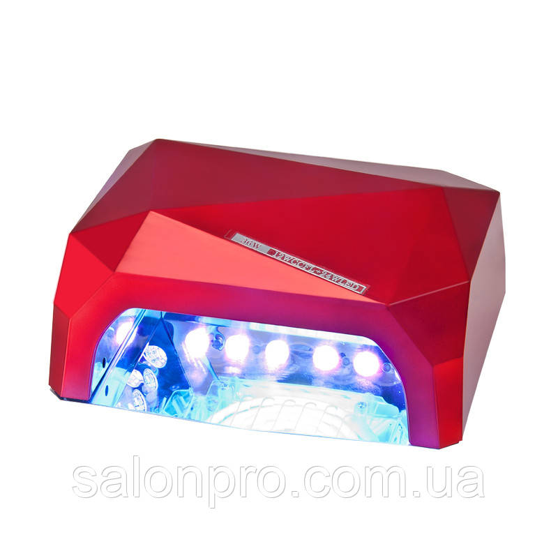 LED+CCFL Лампа гибридная, 36 Вт, красная, сенсорная, таймер