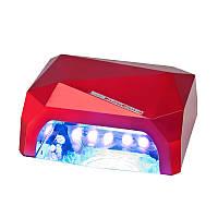 LED+CCFL Лампа гибридная, 36 Вт, красная, сенсорная, таймер, фото 1