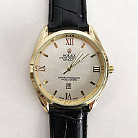 Годинники наручні Rolex White ремінець чорний, фото 1