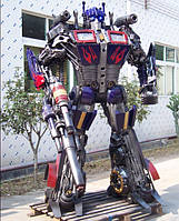 Парковая скульптура.Робот из металла Оптимус.