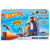 Игровой Трек Хот Вилс Мегагараж на 35 машинок, лифт, ручка для переноски, двойной трек - Hot Wheels Mega