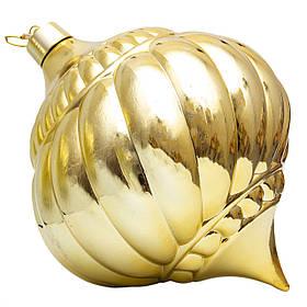 Ялинкова прикраса куля формовий, 30см, глянець золото (030552-2)