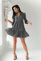 Платье на пуговицах с цветочным принтом GULSELI - черный цвет, 42р (есть размеры), фото 1
