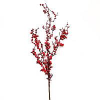 Искусственная ветка с красными ягодами