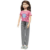 Большая ходячая кукла классическая, 100 см, в спортивных штанах и с темными волосами (sum950041)