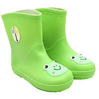 Резиновые сапоги детские, зеленые, 16 см, размер 24 (513696-2)