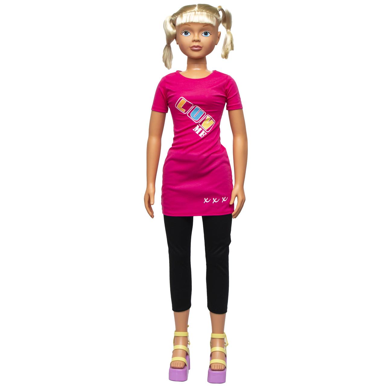 """Большая ходячая кукла """"Келли"""", 127 см, в черных лосинах и со светлыми волосами (sum950096)"""