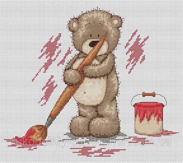Набор для вышивки крестом Luca-S B1006 Медвежонок Бруно