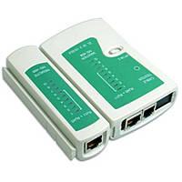 Тестер сети, телефонного кабеля, RJ45 RJ11 зеленый