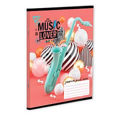 """Нотная тетрадь А5 12 л. YES """"MUSIC LOVER"""""""