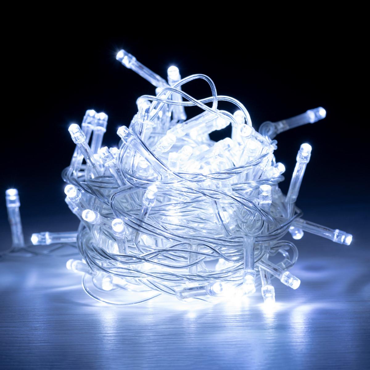 """Електрогірлянда світлодіодна Yes! Fun """"Christmas time"""", 100 ламп, холодно-біла, 5 м., 8 р"""
