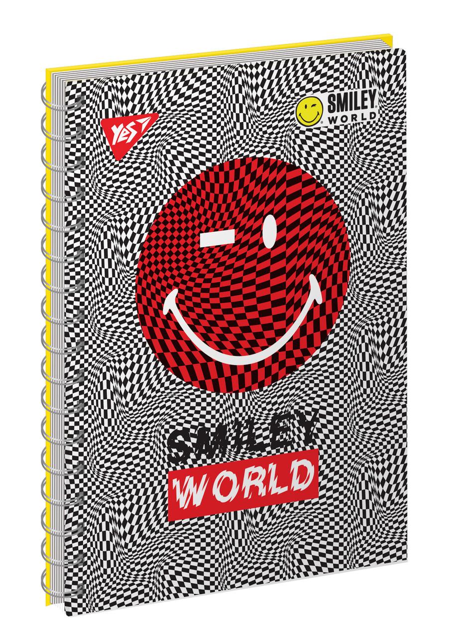 "Тетрадь для записей А6/80 од.спираль, ""SMILEY_WORLD"" YES"