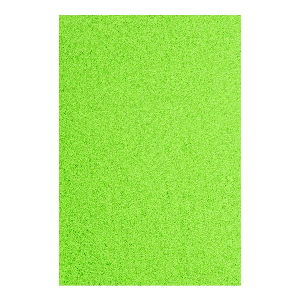 Фоамиран ЕВА яскраво-зелений махровий, 200*300 мм, товщина 2 мм, 10 листів