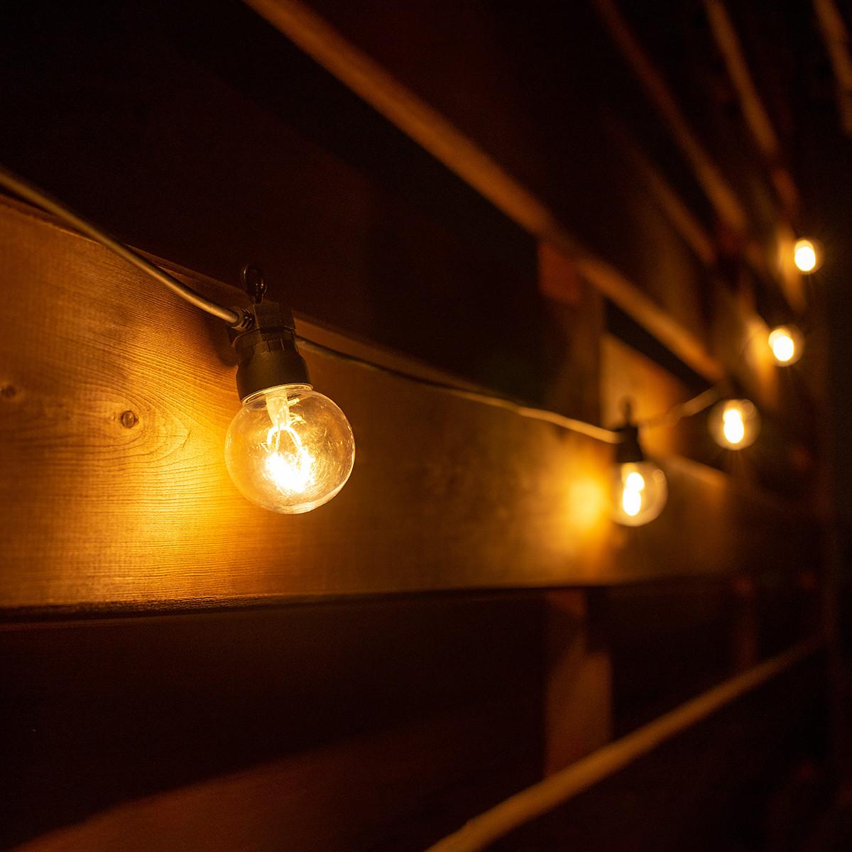 Електрогірлянда-ретро LED вулична Yes! Fun, 10 ламп, d-50 мм, тепло-біла, 8 м