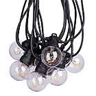 Електрогірлянда-ретро LED вулична Yes! Fun, 10 ламп, d-50 мм, тепло-біла, 8 м, фото 2