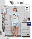 Молодежная Пижама с шортами,Pigamoni, фото 2