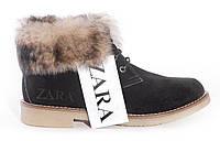 Женские замшевые ботинки Zara