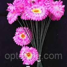 Искусственные цветы Ромашка бело-розовая  20 шт