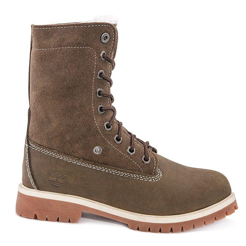 Коричневые женские ботинки Timberland - Интернет магазин обуви Wikishoes в  Киеве 9157c1731ca9f