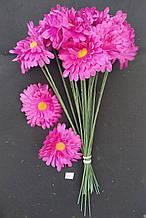 Искусственные цветы Ромашка  розовая 20 шт