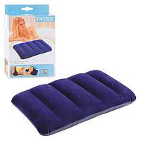 Надувная подушка для плавания и сна 43-28-9см Синяя Intex Интекс
