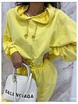 Женский спортивный костюм, турецкая двунить, р-р 42-44; 44-46 (жёлтый), фото 2