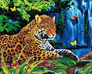 """Картина по номерам + Алмазная мозаика """"Леопард"""" ★★★★"""