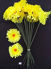 Искусственные цветы Ромашка  желтая 20 шт