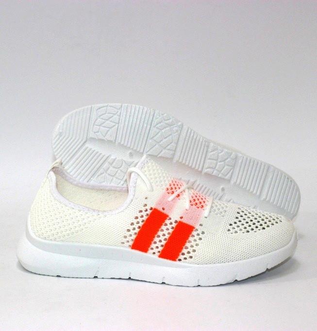 Летние дышащие кроссовки белые из неоновой сетки 36-40 (маломерят)