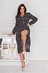 Женское платье, евро - софт, р-р 42-44; 46-48; 50-52; 54-56 (чёрный), фото 2