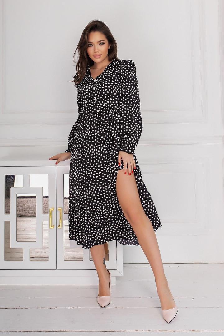 Женское платье, евро - софт, р-р 42-44; 46-48; 50-52; 54-56 (чёрный)
