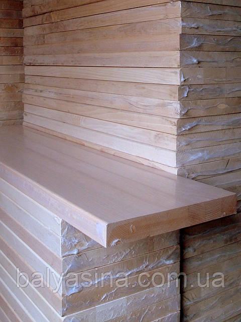 Деревянные ступени из бука 1300х300х40 цельноламельные