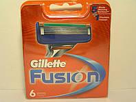 Кассеты для бритья мужские Gillette Fusion 6 шт. ( Картриджи,лезвия Жиллет фьюжин оригинал ), фото 1