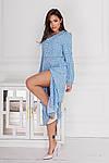 Женское платье, евро - софт, р-р 42-44; 46-48; 50-52; 54-56 (голубой), фото 2
