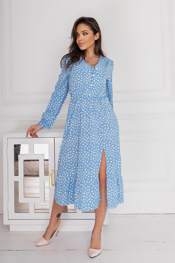 Женское платье, евро - софт, р-р 42-44; 46-48; 50-52; 54-56 (голубой)