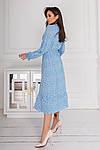 Женское платье, евро - софт, р-р 42-44; 46-48; 50-52; 54-56 (голубой), фото 3