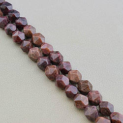 Нитка из натурального камня Гранат 37 див. 11 мм. (Без замка)