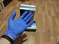 Перчатки нитриловые синие премиальные Halyard 200 шт S , L ,M