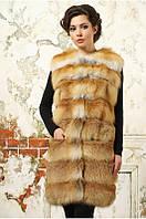 Жилет из лисы из натурального меха лисы. Длина 90 см, фото 1